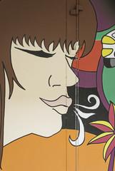 Brunette hippie girl