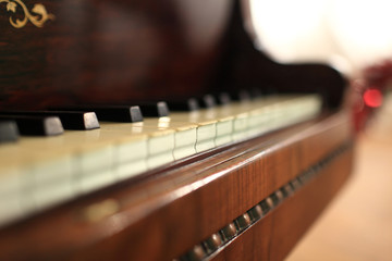 Fragment of vintage piano