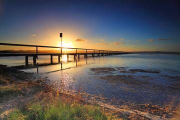 Sun Setting at Long Jetty, Australia