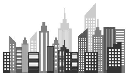 Modern Metropolis City Skyscrapers Skyline
