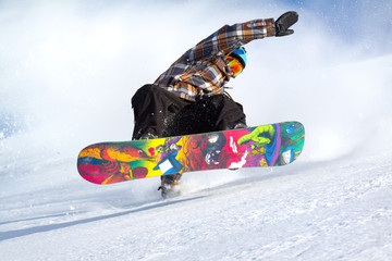 Wall Mural - snowboard evolution