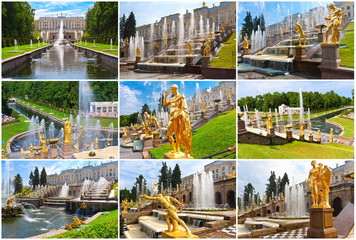 Fototapete - Peterhof in Saint Petersburg
