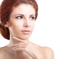 Woman.Perfect Fresh Skin.  Youth and Skin Care