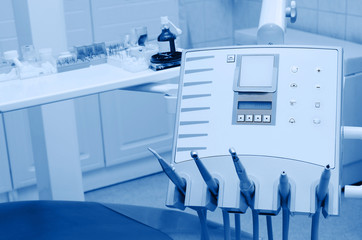 Dental office equipments, blue tone