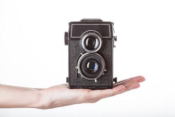 Camera presentation on hand