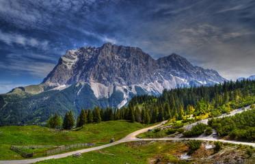 Blick auf die Zugspitze Wall mural