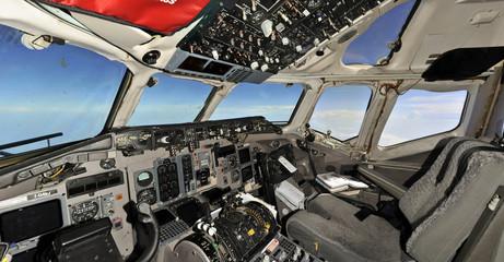 Fliying empty cockpit