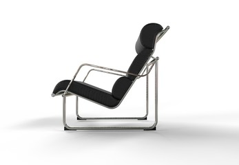 Leather Modern Armchair - Side View