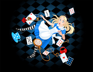 Photo sur Aluminium Magie Falling Alice