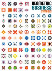 Huge set of business symbols - geometric shapes