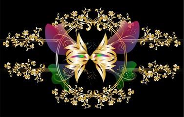 złoty motyl,