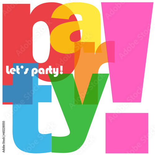party letter collage lets time happy birthday celebration