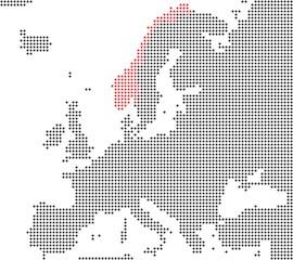 Norwegen - Serie: Pixelkarte Europa