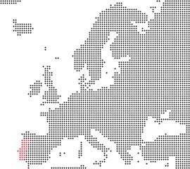 Portugal - Serie: Pixelkarte Europa