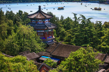 Photo sur Toile Pékin Aerial View of Beautiful Summer Palace