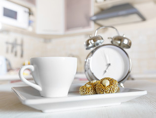 Cup of coffee in a kitchen
