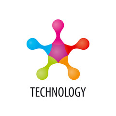 Technology logo in the form of atoms3