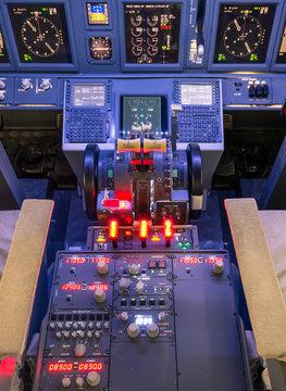 Throttle and control panel - Flight Simulator