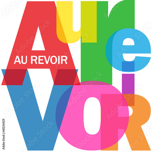 """Connu Carte """"AU REVOIR"""" (adieux salut bon voyage bonne chance)"""" Stock  WF75"""