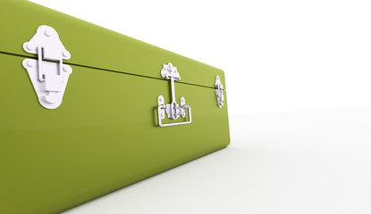 Green case rendered on white