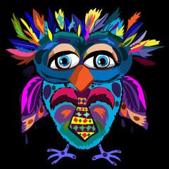 Cute Owl, cartoon drawing, cute illustration for children