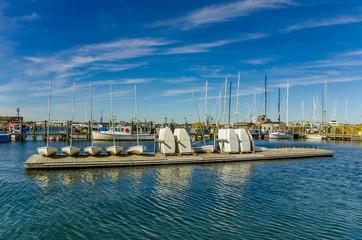Sailing Dinghies on a Floating Pontoon