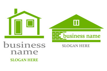 Logo with house.