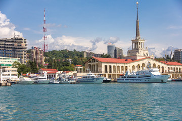 Canvas Prints City on the water Sochi passenger port