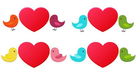 Set of love birds