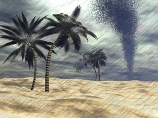 Rain at the beach - 3D render
