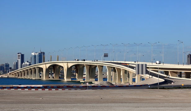 Sheikh Khalifa Bridge in Abu Dhabi, United Arab Emirates