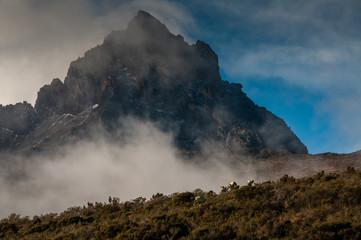 Kilimanjaro Porters approaching Mawenzi