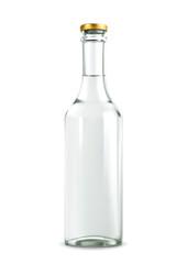 Alcohol drink in bottle vector illustration