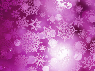 Pink Christmas background with snowflakes. EPS 10
