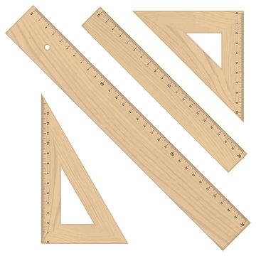 Set - Lineale Dreikant Holz
