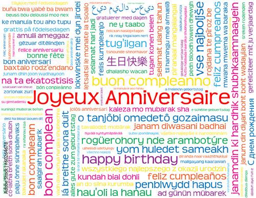 bon anniversaire dans toutes les langues