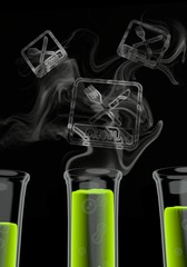 3d render of a isolated menu symbol formed by smoke