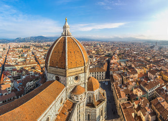Cathedral Santa Maria del Fiore in Florence, Italy - fototapety na wymiar