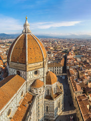 Fototapete - Cathedral Santa Maria del Fiore in Florence, Italy
