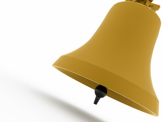 Yellow bell concept on white