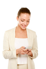 A beautiful woman using a mobile phone