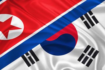 Flag of South and North Korea