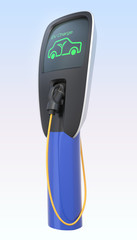 Electric car charging station with clipping path