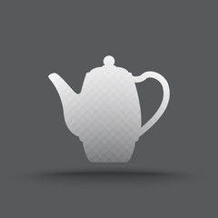 Vector of transparent teapot icon on isolated background