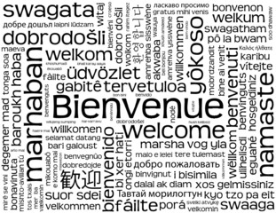 "Carte ""BIENVENUE"" (accueil service clients satisfaction contact)"