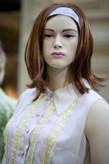 Portrait of female mannequin
