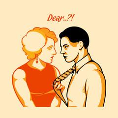 Vintage love quarrel