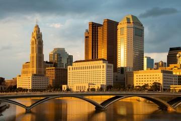 Columbus Ohio Skyline at Sunset