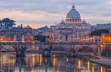 Poster de jardin Rome Rome Saint Peters Basilica 01