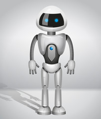 vector robot with screen indicator
